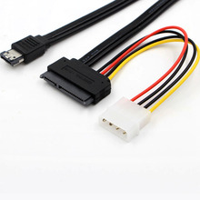 "ESATAP Power ESATA 50cm USB 5V 12V Combo to SATA 22 Pin + IDE 4 Pin Cable Adapter For Hard Disk Data Cable 2.5""/3.5"" EM88"