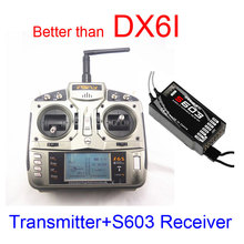 FSFLY I6S 2.4GHz wireless 6 CH Transmitter Radio with S603 Receiver Surpass DX6i JR FUTABA for Quadcopters Helicopters