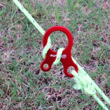 10pcs Quick Knot Tent Wind Rope Buckle 3 hole Antislip Camping Hiking Tightening Hook Wind Rope Buckles P20