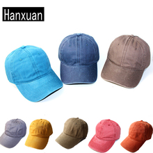 Cheap Cotton Cap Fashion Soft Water Washed blank Curved Caps and Hats Candy Color Casual Snapback Caps(China)