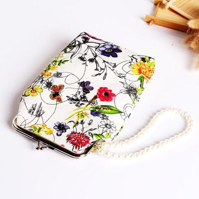 flama Lovely Kawaii Cartoon Women Retro Flower Small Wallet Hasp Purse Clutch Bag Portable Lady Card Key Phone Bag Case<br><br>Aliexpress