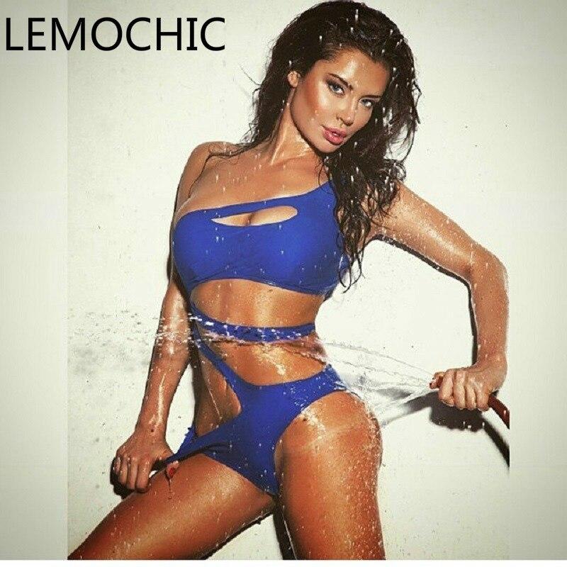 High quality LEMOCHIC Women super sexy Bikini Water Sports  Workout Monokini, Pro Women Athletic Swimsuit mature beachsuits<br>