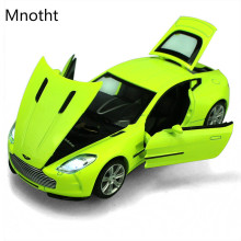 Car Model 1:32 diecast model car toy aston martin Mini Flashing Pull Back Sounds and light Electric Educational Toy Vehicles L60(China)