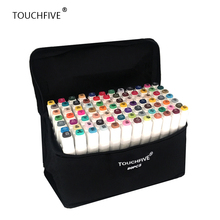 TouchFIVE 20/30/40/60/80/168 Colors set Art Markers alcohol Dual Headed  graffiti pen markers manga drawing set liner brush pen