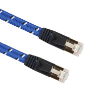 New Cat7 Ethernet Internet Patch Cable Adapter Braide Twisted LAN Flat Cord For Computer Laptop 1/1.8/3/5/8/10/15/20M EM88(China)