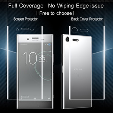 2PCS Full coverage for Sony Xperia XZ Premium Screen protector and Back cover protector Imak All Standing full boday Film(China)