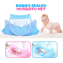 High Quality Version Baby Crib Travel Bed Portable Kids Bed Babies Sealed Mosquito Net Mattress Pillow Mesh Bag Music Accessory(China)