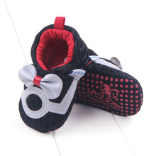Spring Autumn Baby Toddler Shoes Football Sport Bowknot Network Green Black D25