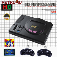 Hot HDMI Video Game Console SEGA MEGADRIVE 1 Genesis 18in1 free games High definition HDMI TV Out with 2.4G wireless controller(China)