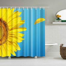 Svetanya Waterproof Shower Curtain Sunflower Print Include 12 Pcs Hooks 180180cm