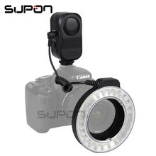 SUPON W48 200LM LED Macro Ring Flash Lighting with Ring Diffuser Filter 49mm/52mm/55mm/58mm/62mm/67mm for DSLR Camera