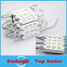20 pcs/Lot  5050 LED Modules Waterproof IP65 Led Modules DC 12V SMD 3 Leds Sign Led Backlights For Channel Letters White