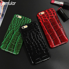 JAMULAR Crocodile Phone Case Cover for iPhone 7 8 Plus 6 6s Snake PU Leather Case for iPhone 6 6s 7 Plus Case For iPhone 8 Plus