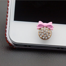 Fashion 3D Crystal Bling Diamond Home Button Sticker Cell Phones Accessories for IPhone 4 5 5s SE 6 6s Plus for IPad