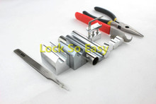 Professional 12 in 1 HUK Lock Disassembly Tool Locksmith Tools Kit Remove Lock Repairing pick Set(China)