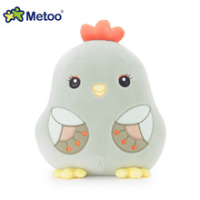 Metoo 21cm light green Plush Sweet Lovely Stuffed Dolls Baby Kids Toys for Girls Birthday Christmas Gift Chicken Doll(China)