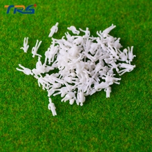 200pcs/lot 1:200 architectural scale model white figures for model train railway layout(China)