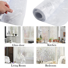 45 x 100cm Window Cover Films,Home Decorative No-Glue 3D Static Decorative Window Glass Stickers