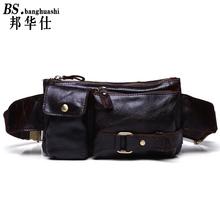 Leather Men 's Men' s Bags Trendy Outdoors Men's Leather Bag Leather Mens Messenger Bag Shop(China)