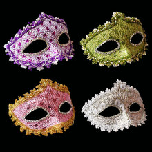 Free Shipping fashion carnival mask Venetian Mask feather Mask with stick masquerade party mask