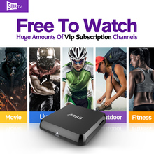Smart Android 4.4 TV Set top box 2G+8G Dual Band WIFI Media Player with SUBTV Account HD IPTV Arabic Europe Subscription 1 year