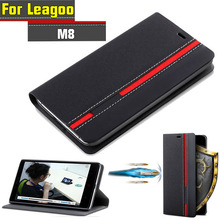 Leagoo M8 Case Flip Luxury Fashion PU Leather Back fundas Cover Case For Leagoo M8 Pro With Phone Stand
