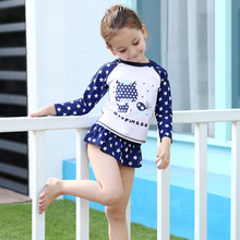 2017 Swimsuit for girl Swim wear bikini set for Children swimming wear girl swim suit print swimwear for bavy girls
