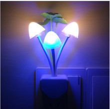 EU US Plug Changeable LED Lamp Romantic Mushroom Night Light Wireless Bedside Kids Illumination Lights Sensor Automatic Startup(China)