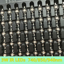20 PCS 3W Infrared IR High Power LEDs Emitter CCTV Camera IR Diode for Security Black LEDs Red 740nm 850nm 940nm 3W 700mA