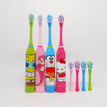 Waterproof Ultrasonic Vibrating Electric Toothbrush Soft Bristle Silicone Tooth Brush Mouth Clean Baby Kids Oral Hygiene