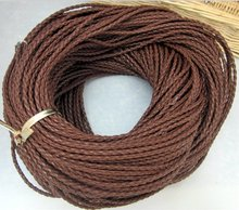 Wholesale 100meters Brown Braided cord Beading Cord Finding , Jewerly Cord,3MM(China)