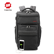 2017 Fashion Tigernu Brand 15.6inch Laptop Backpack USB Charge Computer Bag Backpack for men &women Business Casual School Bag