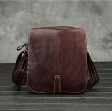 Buy New Men Vintage Genuine leather First layer Cowhide Cross Body Shoulder Messenger Business Bag for $25.39 in AliExpress store