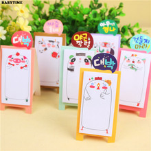 3 PCS Korea Stationery Pretty Kawaii Cartoon Sticker Post It Bookmarker Memo Pad Sticky Note(China)