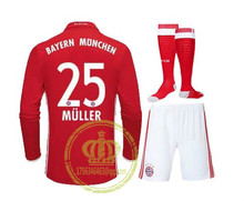 fwwi-90 Thai best Quality Bayernes Muniches adult Long sleeves kit +sock soccer Jersey 16 17 Home Away 3RD free shipping