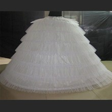 Brand New Big Petticoats White Super Puffy Ball Gown Underskirt 6 Hoops Long Slip Crinoline For Adult Wedding/Formal Dress