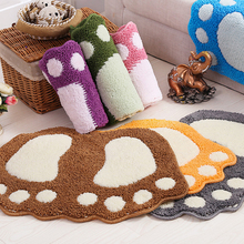 Foot Print Bath Mats,Non-slip Bathroom Carpet,Mat Toilet Memory Foam Bathroom Rug Bath Pad Carpets,Microfiber Mini Mats 40*60cm(China)
