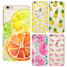 Fruit Case for iPhone X 8 7 4 4S 5 5S SE 5C 6 6S Plus Silicone For Xiaomi Redmi 4 4A 3S 3 S 4X Note 3 4 Pro Prime 4X