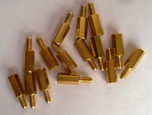 100PCS/LOT 10 + 6 pillars 10 mm high 10MM M3 hexagon copper pillars Spacer(China)