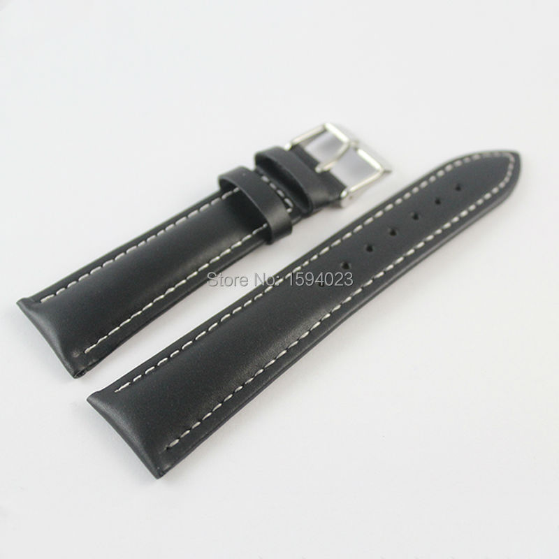 22mm (Buckle18mm) T039417 High Quality Silver Buckle + Black Genuine Leather Watch Bands Strap Free shipping<br><br>Aliexpress