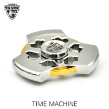 15pcs DHL Free Shipping Magic Shark TIME MACHINE Spinner Pure Stainless Steel 18K Gold Unique Hand Spinners Metal Fidget Spiner