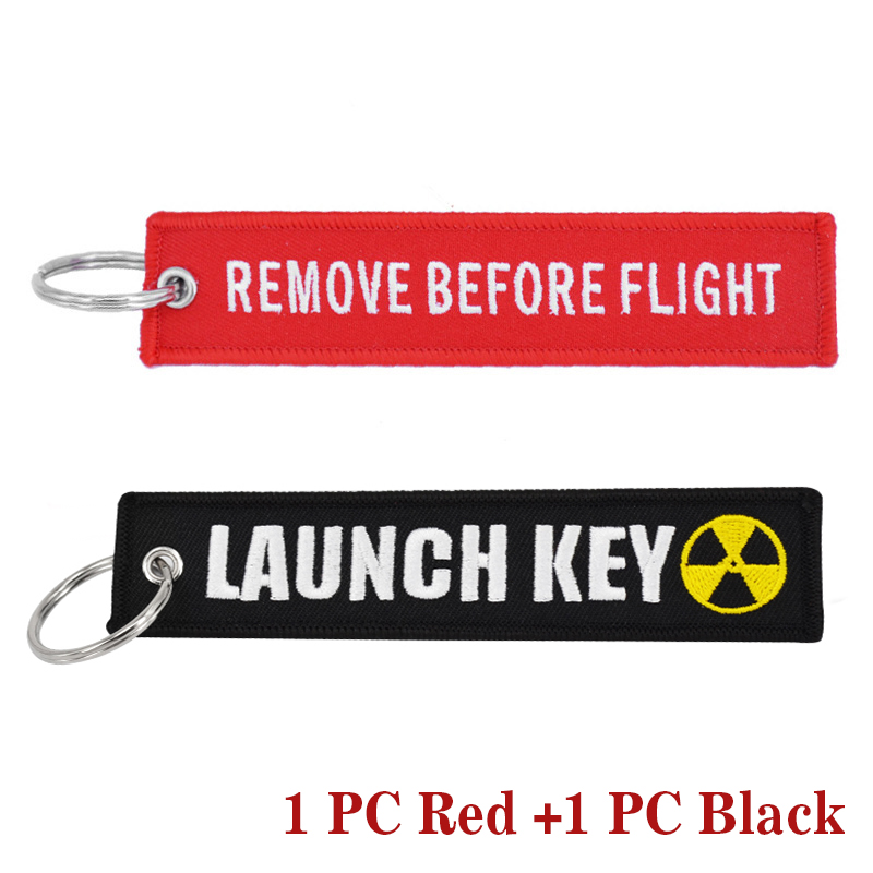 New Fashion Nuclear Launch Key Chain Bijoux Keychain for Motorcycles and Cars Gifts Tag Embroidery Key Fobs OEM Keychain Bijoux 2
