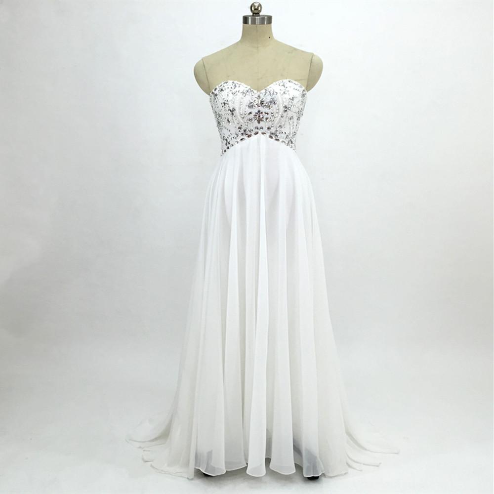 Sexy Chiffon A Line Beach Wedding Dresses Vintage Boho Cheap Bridal Gowns Vestidos De Novia Robe De Mariage Bridal Gown in stock 10