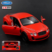 1:36 11.5cm new Welly BENTLEY ContinentalGT car alloy vehicle model pull back cool boy birthday toy