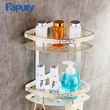 Fapully de aluminio plataforma de baño montado en la pared cesta Accesorios  de baño con Ganchos a26f240dfcf3