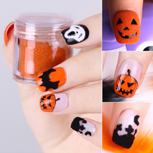 1 Box Halloween Christmas Nail Powder Fuzzy Flocking Velvet Colorful Glitter Manicure Dust Nail Art Tips Decoration