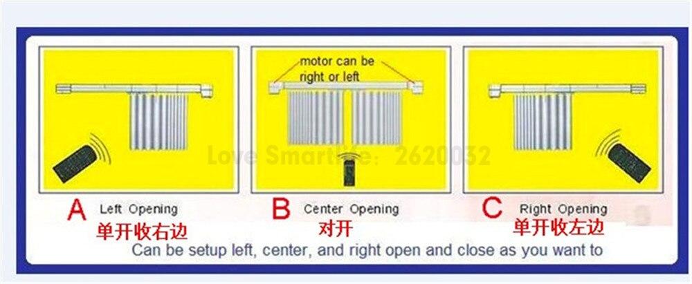 Dooya Fine Quality Electric Super Quiet Curtain Track,Auto Motorized Track Far Remote Control Electric Curtain Motor,Customerize
