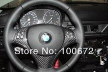 Carbon fiber steering wheel cover,steering wheel wrap for BMW E92(Fits for BMW E92)