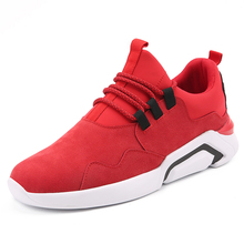 New Arrival Mens Sport Sneakers Spring/Autumn Walking Jogging Shoes Black Red Cheap Sneakers Online Shop Men Brand Running Shoes(China)