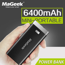 MaGeek Power Bank 6400mAh Backup Power Backup Battery External Battery Portable Charger for iPhone Samsung(China)